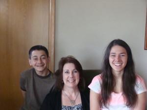 Amy and kids