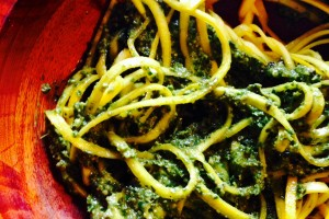 Summer Squash with Pesto